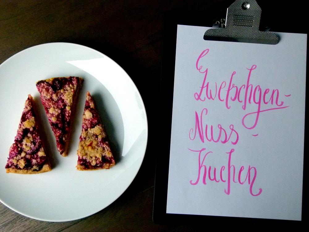 Zwetschgen-Nuss-Kuchen | Rezept auf Gemischte Tüte Glück