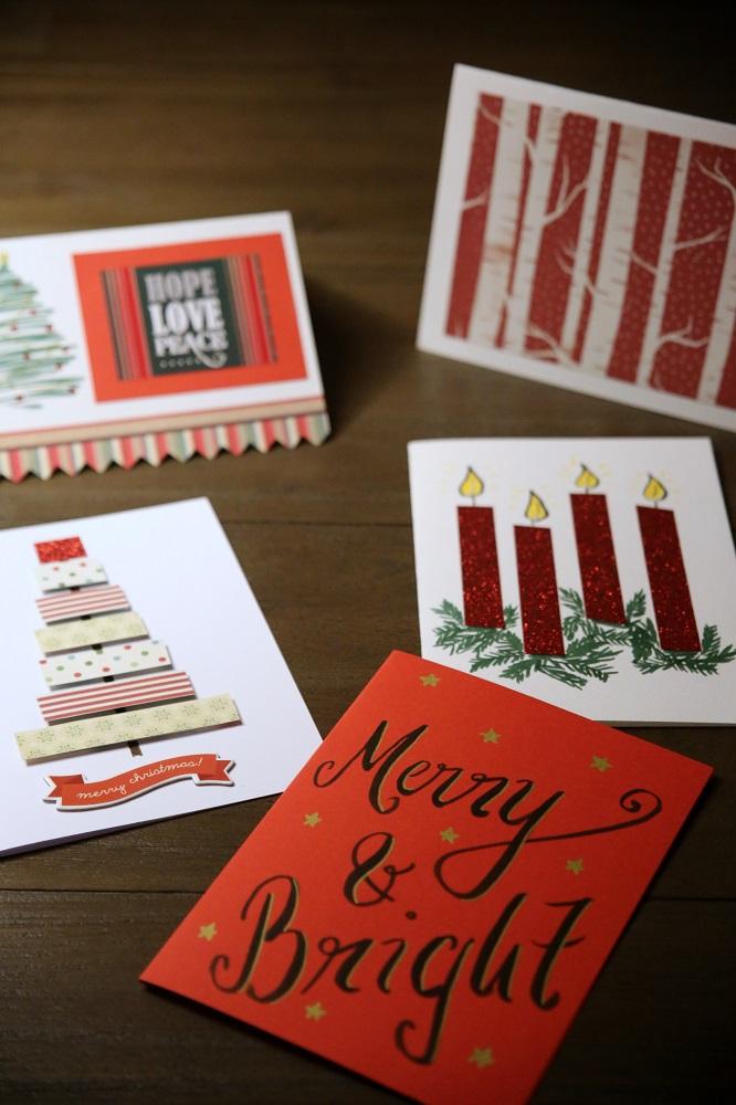 DIY Weihnachtskarten auf Gemischte Tüte Glück