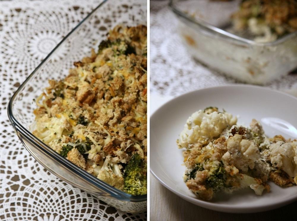 Brokkoli & Blumenkohl Auflauf mit Käse